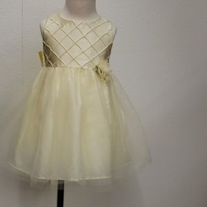 George yellow tulle dress